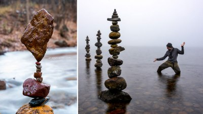 Image: Gravity Glue balancing rocks