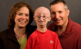 Image: Sam Berns and his parents, The Progeria Research Foundation.