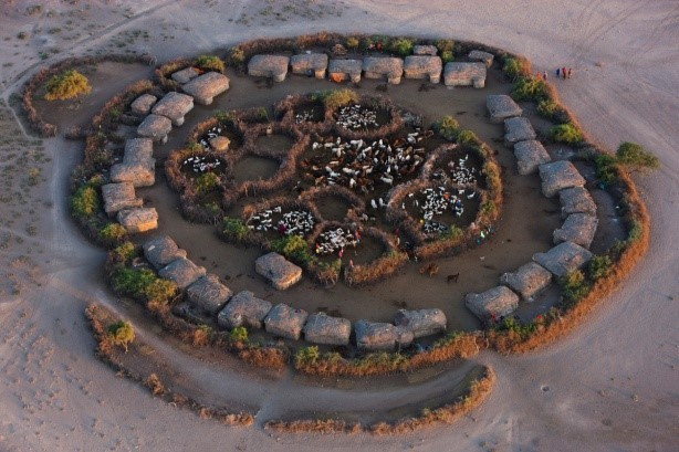 Image: African Village in perfect geometry from above