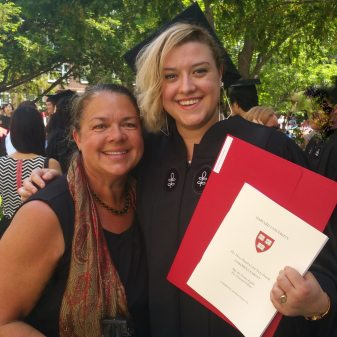 Image: Liesl and Dr. Lynda at Harvard Graduation