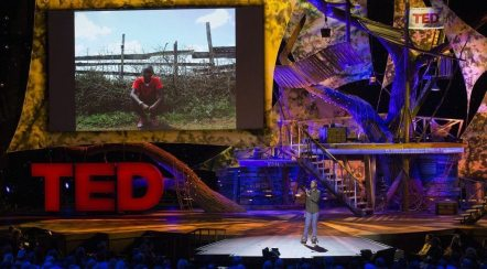 Image: Young Richard Turere on the TED stage