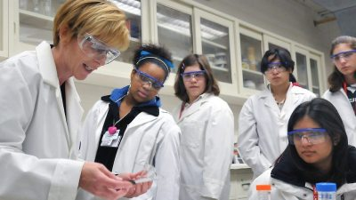 Image: Students in a laboratory