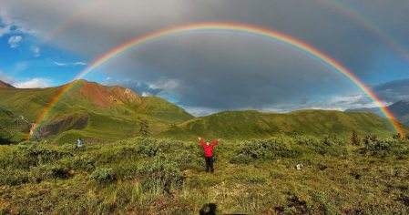 Image: Double rainbow in alaska