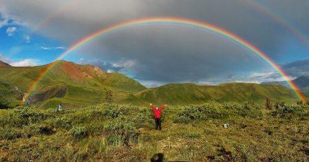 Image: Double rainbow in alaska