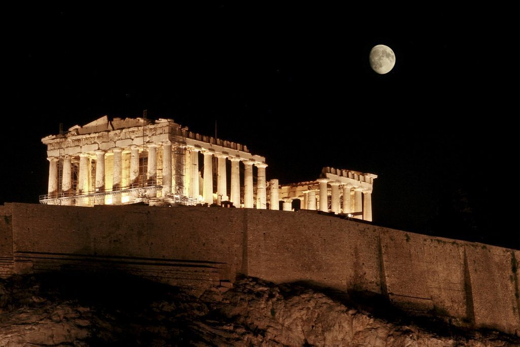 Image: Moon over the Acropolis