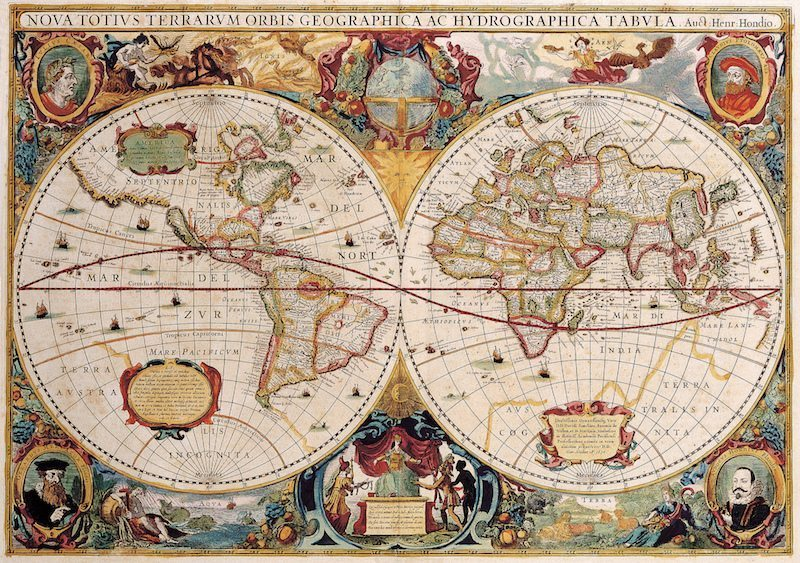 Image: Old distorted maps of the world