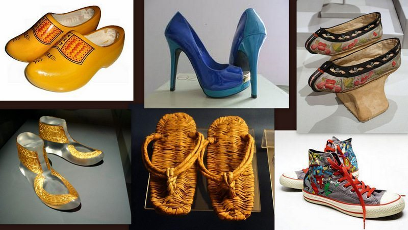 Image: A collage of shoes from different cultures and eras