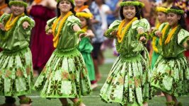 Image: A group of Hula dancers--part of what makes this such an amazing world