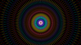 Image: Radiating pattern of color