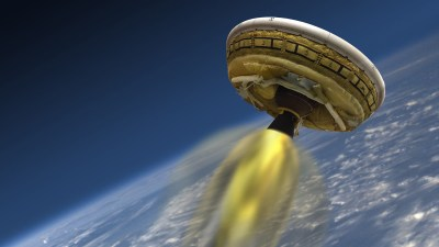 Image: A future spacecraft blasting through space