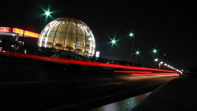 Image: The Globe at European Organization for Nuclear Research (CERN) at night