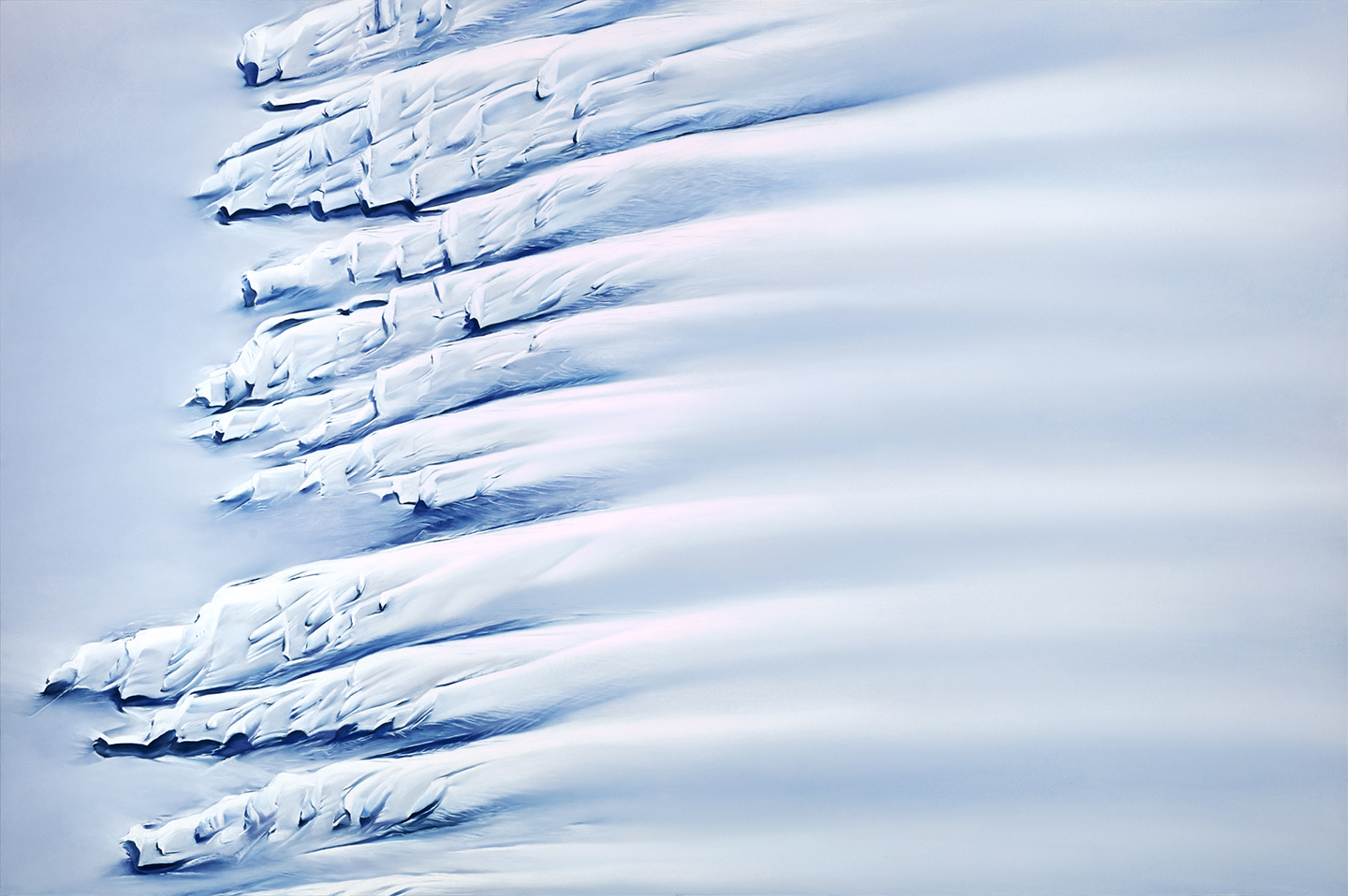 Image: Painting from Zaria Forman of the Getz Ice Shelf in Antarctica viewed from above