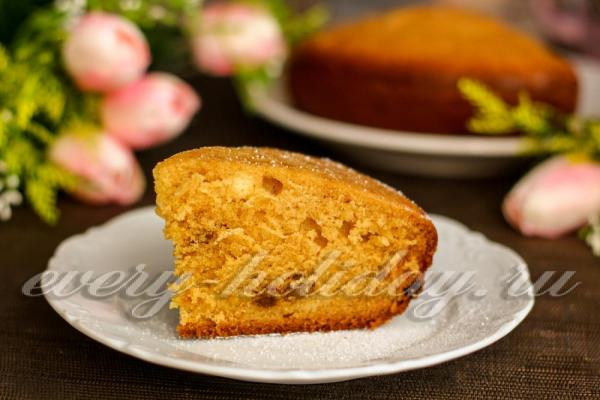 Кекс на кефире в духовке: рецепт с фото