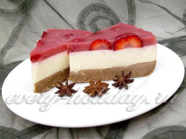 Торт без выпечки рецепт с фото из печенья и творога с