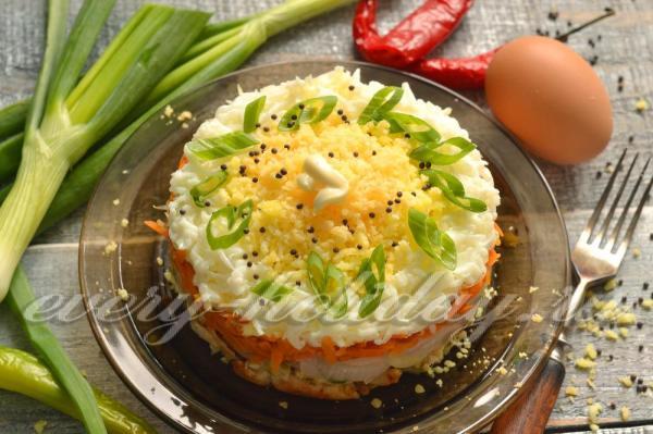 Салат «Мужской каприз», рецепт с фото из курицы
