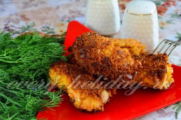 Куриные крылья в духовке с хрустящей корочкой, рецепт с фото