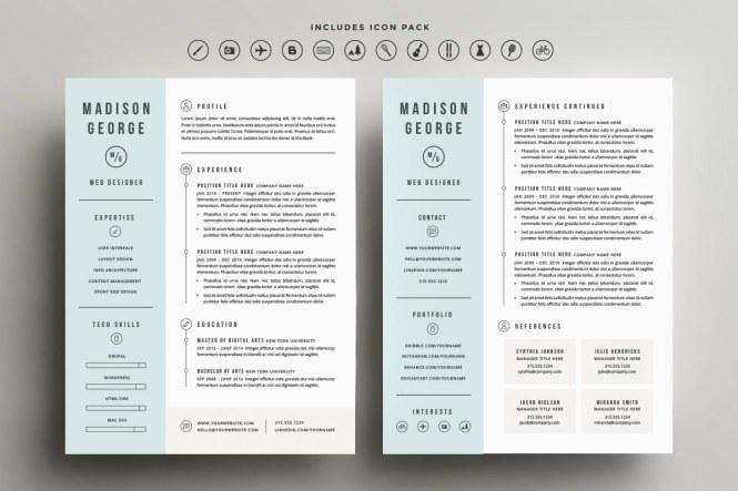 2 Column Resume Template - Resume Sample