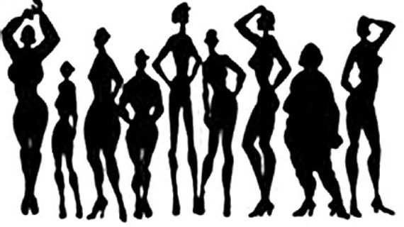 Image result for different shape bodies of eating disorders