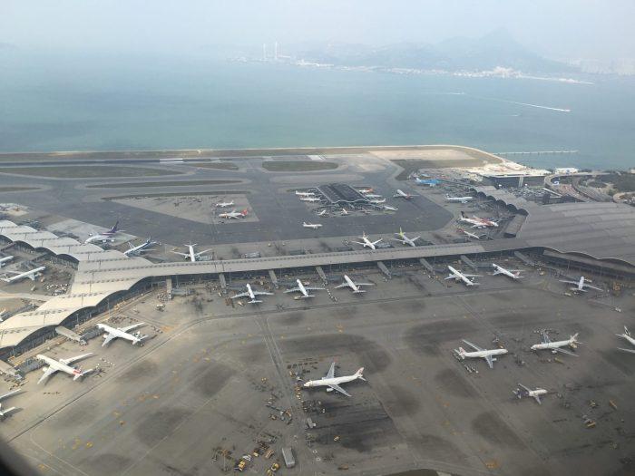hong kong international airport aerial 700x525 - Cathay Pacific Business Class Airbus A330-300 Hong Kong HKG to Osaka KIX via Taipei review