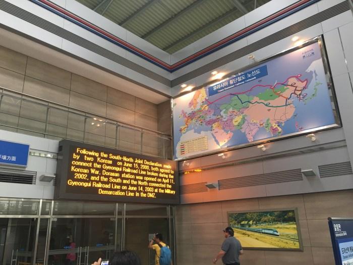 dmz tour from seoul dorasan station 700x525 - A visit to the DMZ - Touring the border between South Korea & North Korea