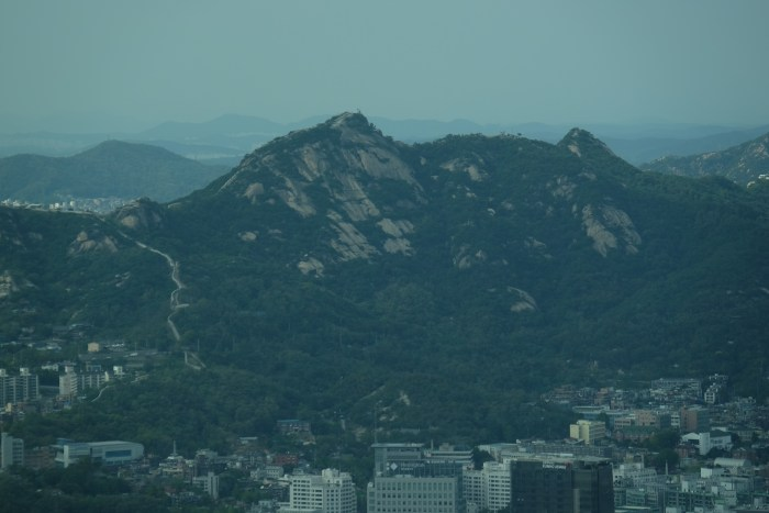 seoul mountains 700x467 - Walking the Seoul City Wall - Namsan (Mongmyeok) Mountain Trail section