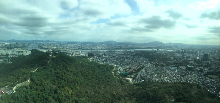 seoul tower city walls 700x328 - Walking the Seoul City Wall - Namsan (Mongmyeok) Mountain Trail section