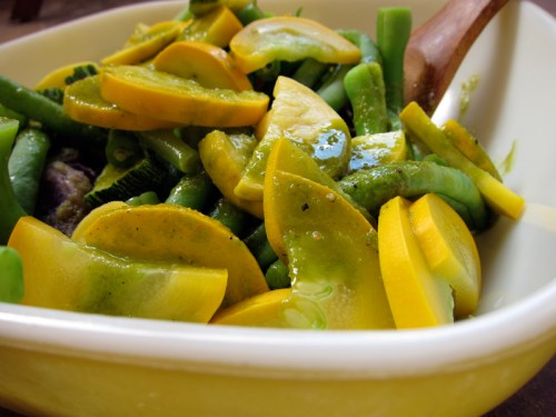 green bean & summer squash salad
