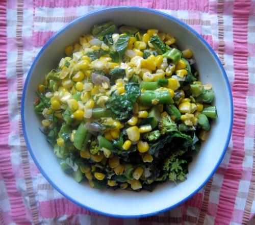 big bowl of veg!