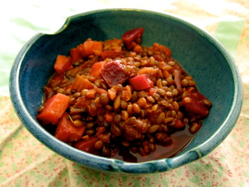 vegetable soup with lentils & farro