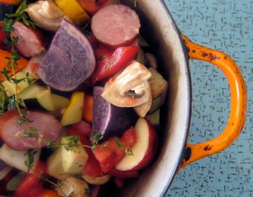 chicken, sausage & vegetable stew
