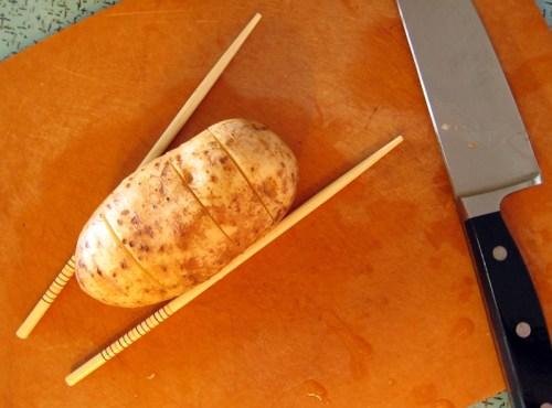 hassleback / accordion potatoes