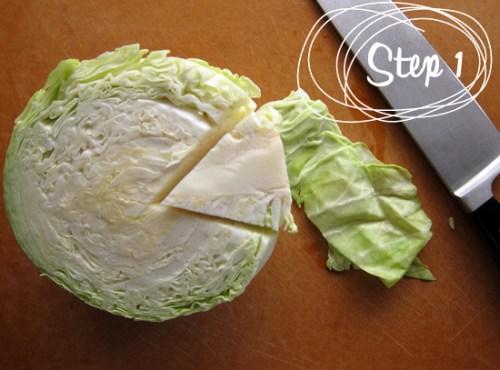 cabbage shredding tutorial