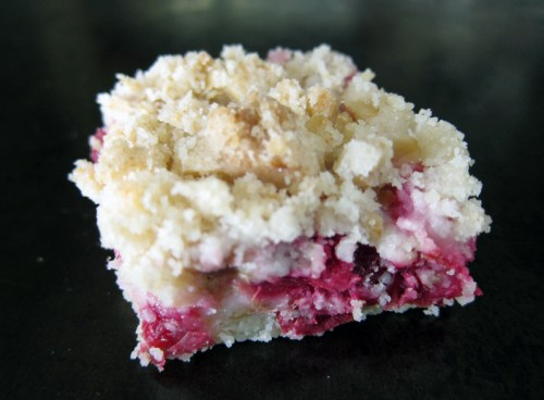 rhubarb cranberry crumb bars