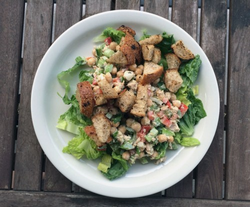 chickpea, tuna & onion salad with creamy lemon dressing | everybody likes sandwiches