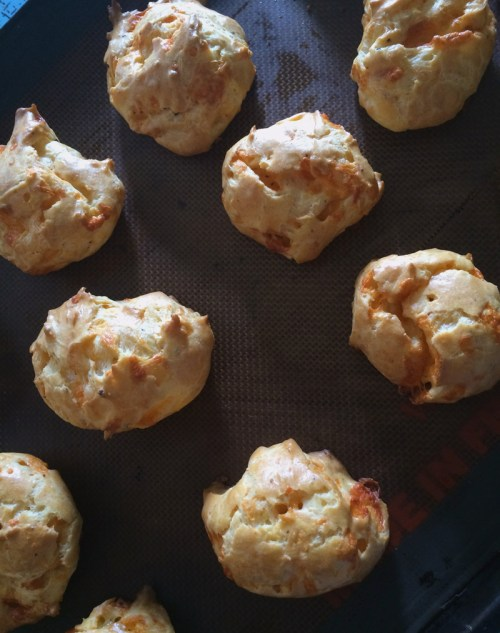 spicy cheddar gougeres | everybody likes sandwiches