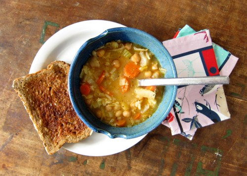 cabbage and rice soup with chickpeas & carrots | everybody likes sandwiches