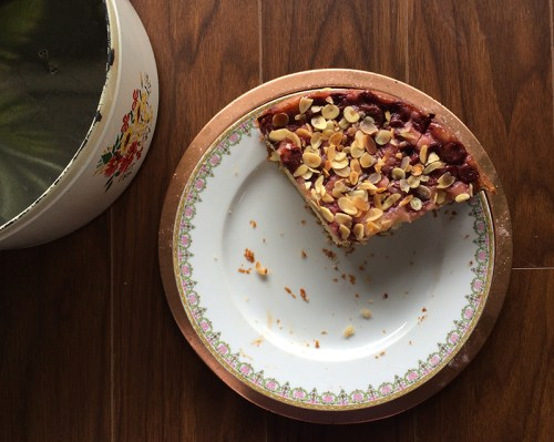sour cherry yogurt almond cake | everybody likes sandwiches