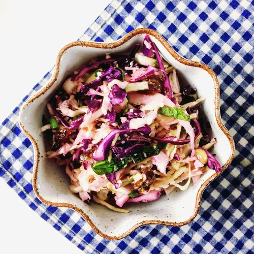 sweet and sour slaw with coconut, mint and dates   everybody likes sandwiches