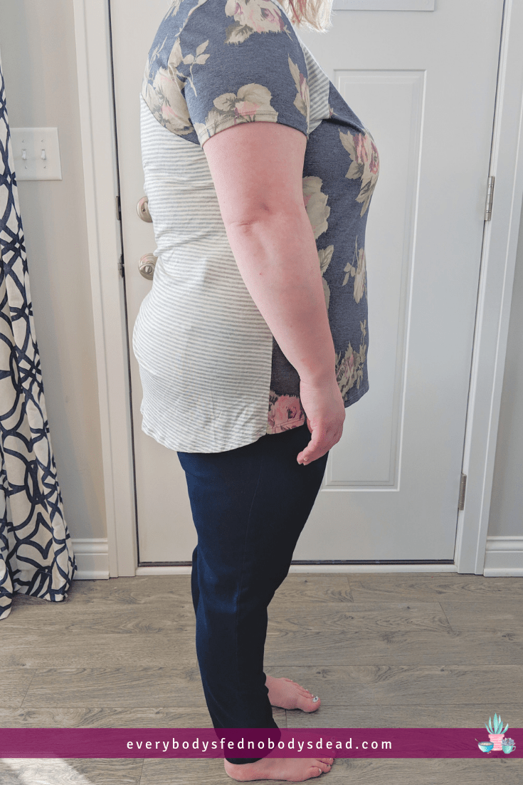 Dia&Co second box, mixed print top and jeans