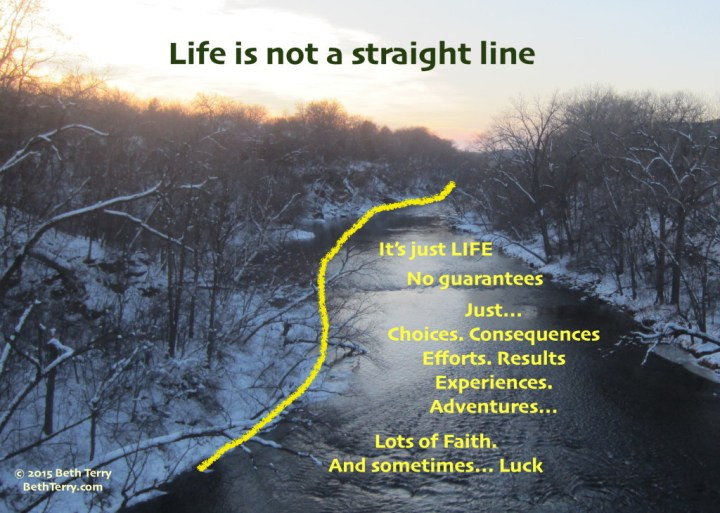 Life is not a straight line