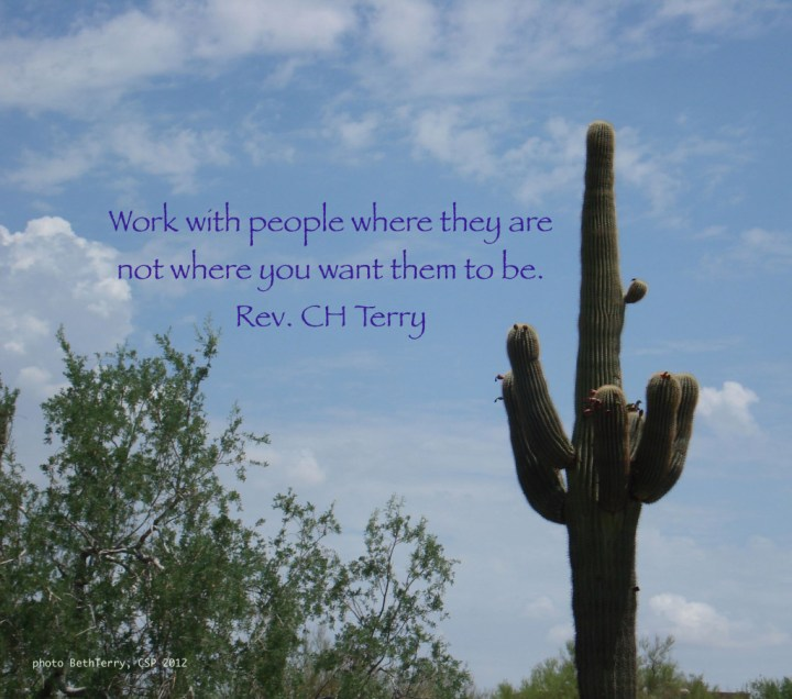 work with people where they are