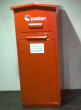 Norwegian post box