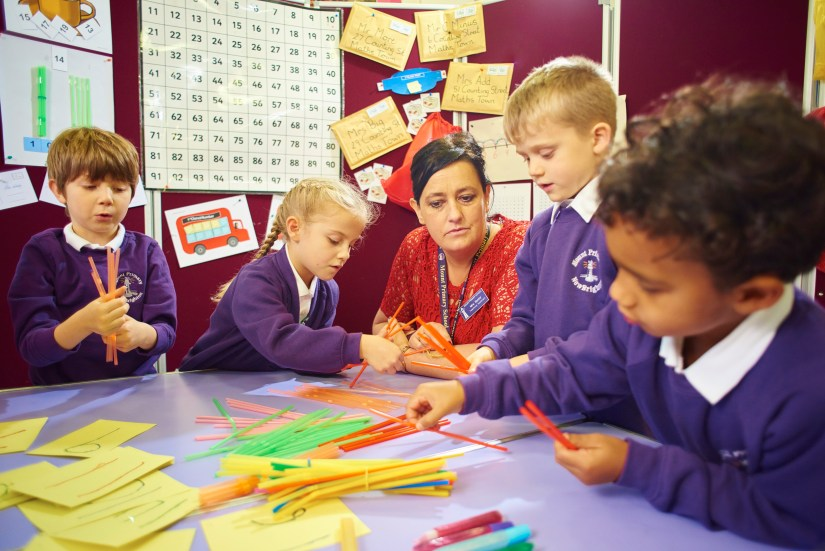 Children engaging in a Becoming 1stClass@Number lesson