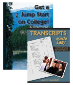 Get a jump start on college with the Transcripts Made Easy and Get a Jump Start on College bundle.