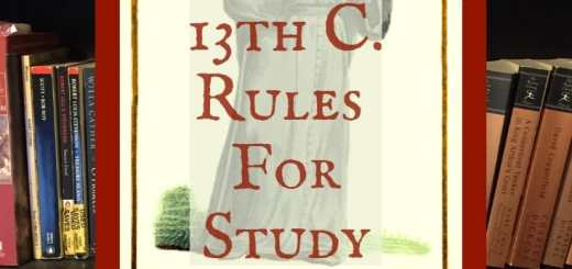 Thirteenth century rules for study by Robert de Sorbonne.