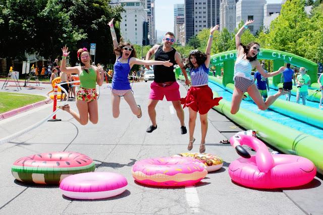 Splishin & a Splashin' at Slide The City SLC