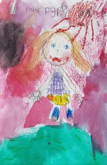 Sidekick Anger. Drawn by Pyper. Age 6.