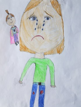 Sidekick Sadness. By Claire. Age 8.