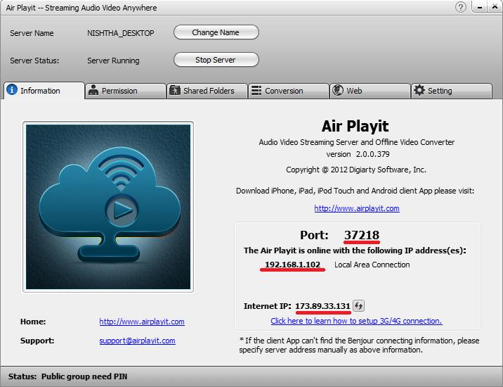 Air Playit  Setup Guide (4/6)