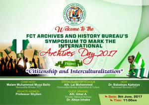 International Archives Day: ABUJA hosts Seminar and Exhibition